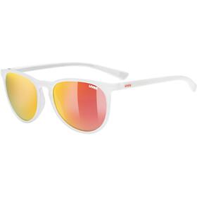 UVEX LGL 43 Okulary, white mat/mirror red